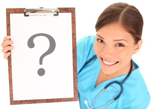 Medical sign. Young woman doctor / nurse showing empty blank clipboard sign with copy space for text. Mixed race asian caucasian female model isolated over white background.